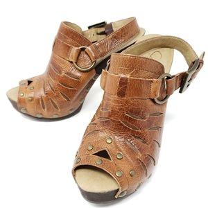 Jessica Simpson XAIN Western Platform Sandals Peep